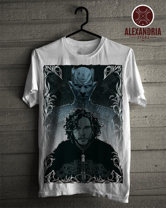 Camiseta Jon Snow White Walker
