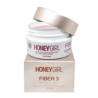 Gel Fiber 3 Honey Girl 30g - Clear e Light Pink