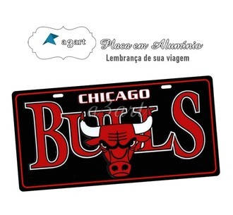 Placa de Carro Decorativa Chicago Bulls