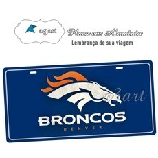 Placa de Carro Decorativa Broncos Denver