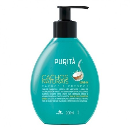 Leave-In Cachos Naturais Purità (200ml) - Davene