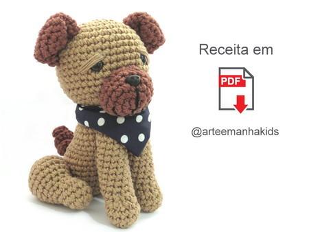 Cachorro Pug Amigurumi no Elo7 | Orange Fox Ateliê (D1D7D7) | 338x450