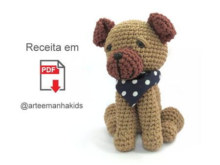 Baby Pug Dog amigurumi pattern | Bichinhos de croche, Chaveiro de ... | 338x450