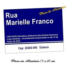 Placa de Rua Decorativa Mariele Franco