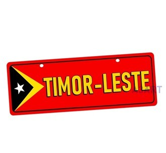 Placa de Carro Decorativa Timor Leste