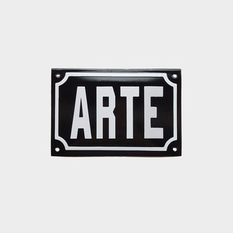 "Placa Decorativa ""ARTE"" P&B 10x15"