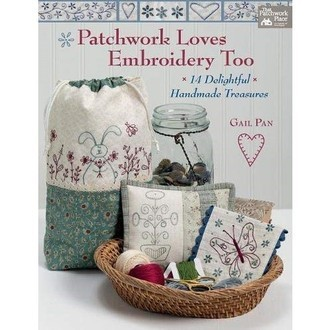"livro Gail Pan ""Patchwork Loves Embroidery Too"""