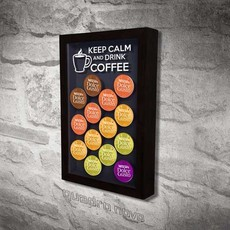Quadro Dispenser Dolce Gusto - KEEP CALM AND DRINK COFFEE