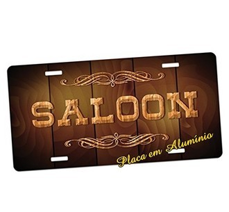 Placa de Carro Decorativa Saloon