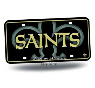 Placa de Carro Decorativa NFL Saints