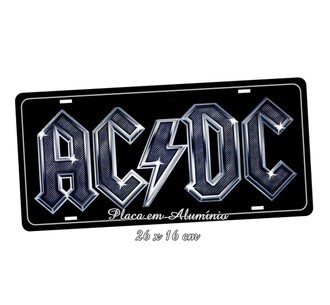 Placa de Carro Decorativa Rock AC-DC