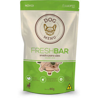 Petisco Luopet Dog Menu Fresh Bar para Cães 80g
