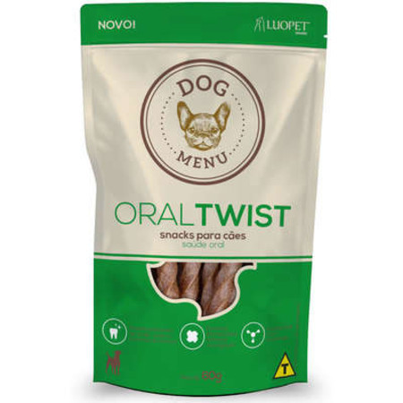 Petisco Luopet Dog Menu Oral Twist para Cães