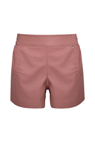 Shorts Couro Rose