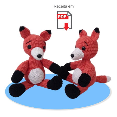 Raposa Receita de Amigurumi de Crochê por Little Bear Crochets | 450x450