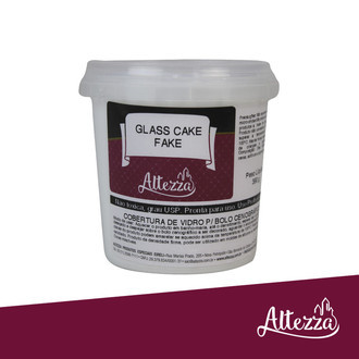 Glass Cake Fake - Cobertura artesanal 390g - Branco Noiva - Altezza