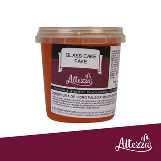 Glass Cake Fake - Cobertura artesanal 390g - Laranja - Altezza