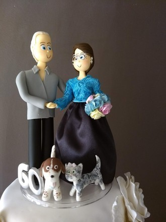Casal Bodas de Diamante com pet