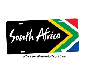 Placa de Carro Decorativa da Cidade South Africa