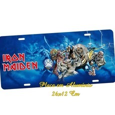 Placa de Carro Decorativa Iran Maiden