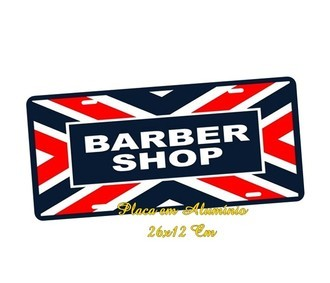 Placa de Carro Decorativa Barber Shop