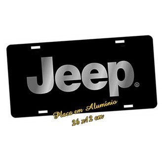 Placa de Carro Decorativa Jeep