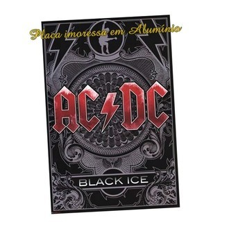 Placa Poster Quadro Decorativa AC/DC