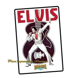 Placa Poster Quadro Decorativa Elvis