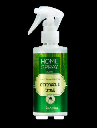 Home Spray com Óleo Essencial Citronela e Cravo 200ml