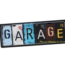 Placa de Carro Decorativa Garage