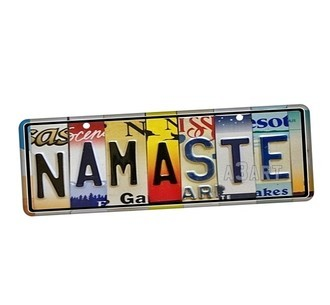 Placa de Carro Decorativa Namaste