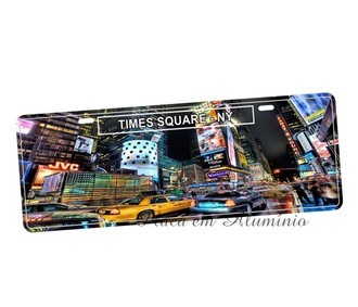 Placa de Carro Decorativa Times Square