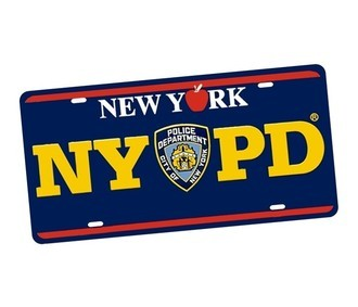 Placa de Carro Decorativa NY PD