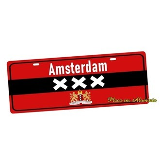 Placa de Carro Decorativa Amsterdan XXX