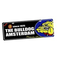 Placa de Carro Decorativa Amsterdan The Bulldog