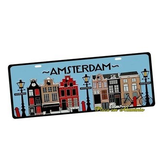 Placa de Carro Decorativa Amsterdam