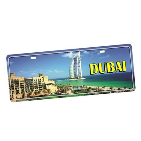 Placa de Carro Decorativa Emirados Dubai