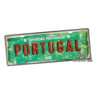 Placa de Carro Decorativa Republica Portuguesa