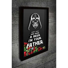 Quadro Porta Tampinhas - Darth Vader I'm your Father