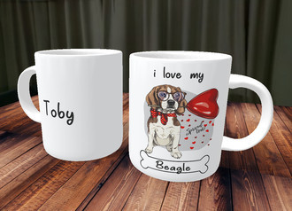 Caneca I Love Dog