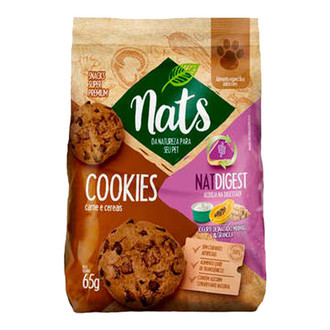 Biscoito Cookies Nats para Cães Natdigest 65g