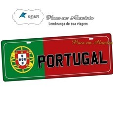 Placa de Carro Decorativa PORTUGAL