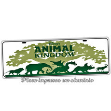 Placa de Carro Decorativa Animal Kingdon