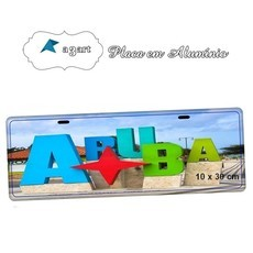 Placa de Carro Decorativa Aruba Caribe