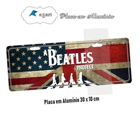 Placa de Carro Decorativa da Inglaterra Beatles