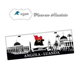Placa de Carro Decorativa de Angola Luanda