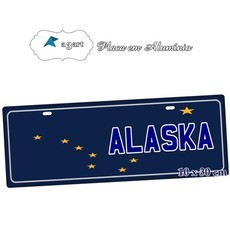 Placa de Carro Decorativa Alaska