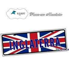Placa de Carro Decorativa da Inglaterra