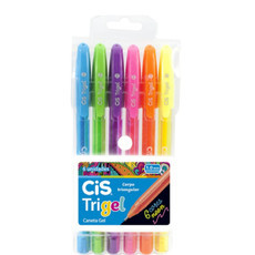 Kit 6 Cores Neon Cis Trigel