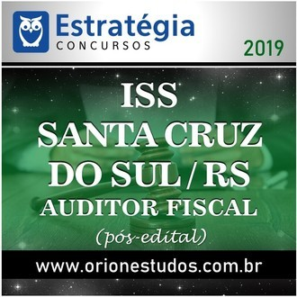 ISS-Santa Cruz do Sul-RS (Auditor Fiscal)